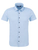 Stone Rose sport shirts Light Blue Pique Knit Short Sleeve Shirt