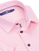 Stone Rose Sport Shirts Light Pink Pique Knit Short Sleeve Shirt