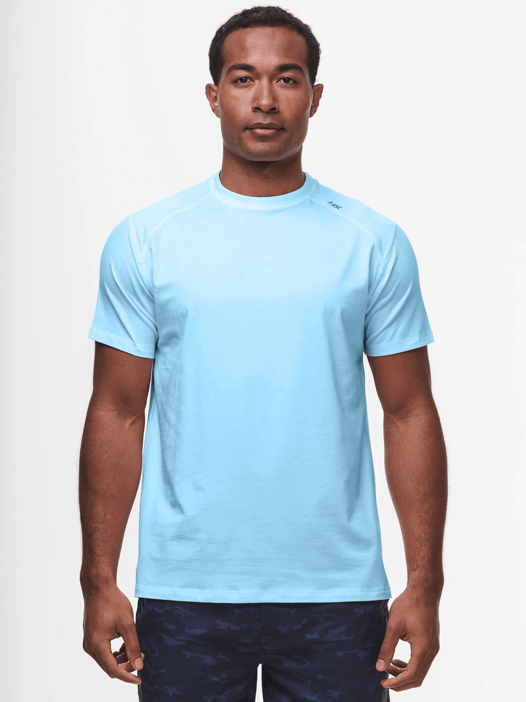 TASC T-Shirts Carrollton Fitness T-Shirt- Clear Blue