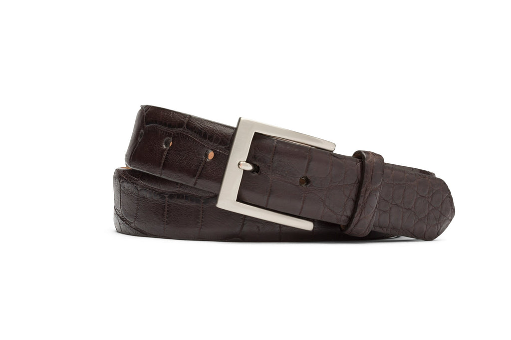 W. Kleinberg Belt Matte American Alligator Belt