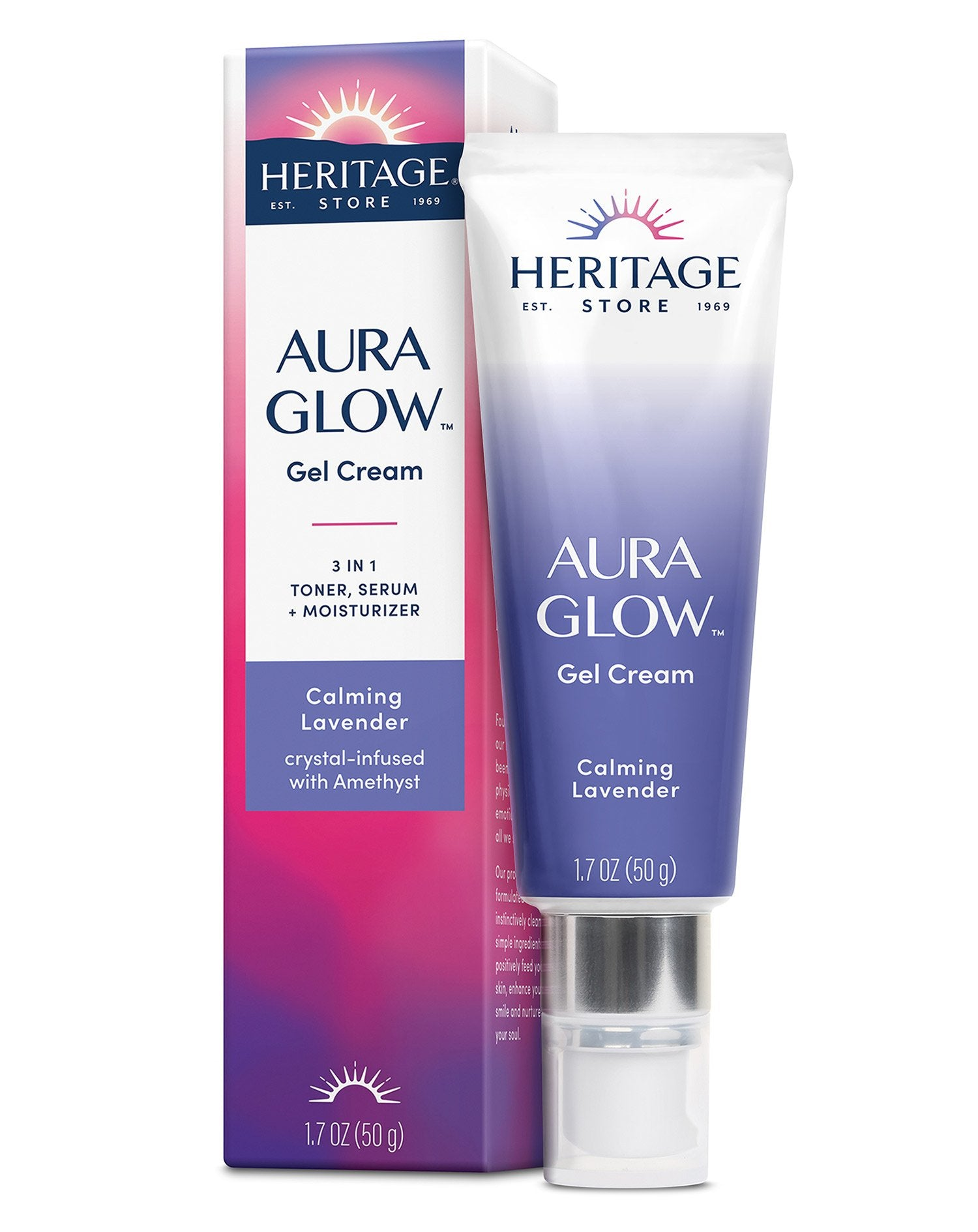 Aura Glow Gel Cream, Calming Lavender