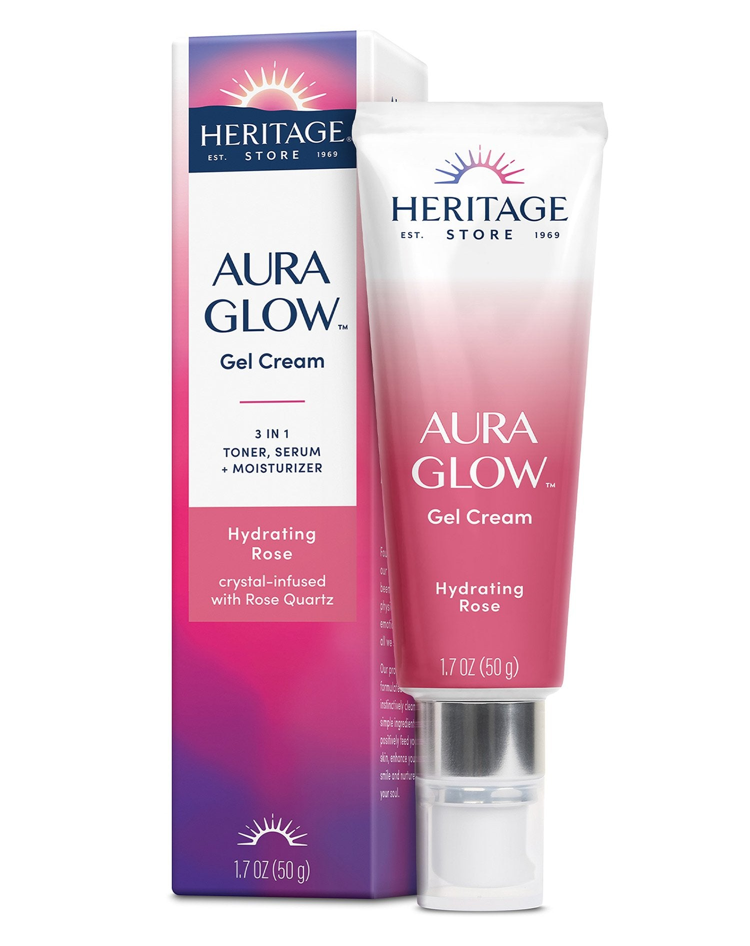 Aura Glow Gel Cream, Hydrating Rose