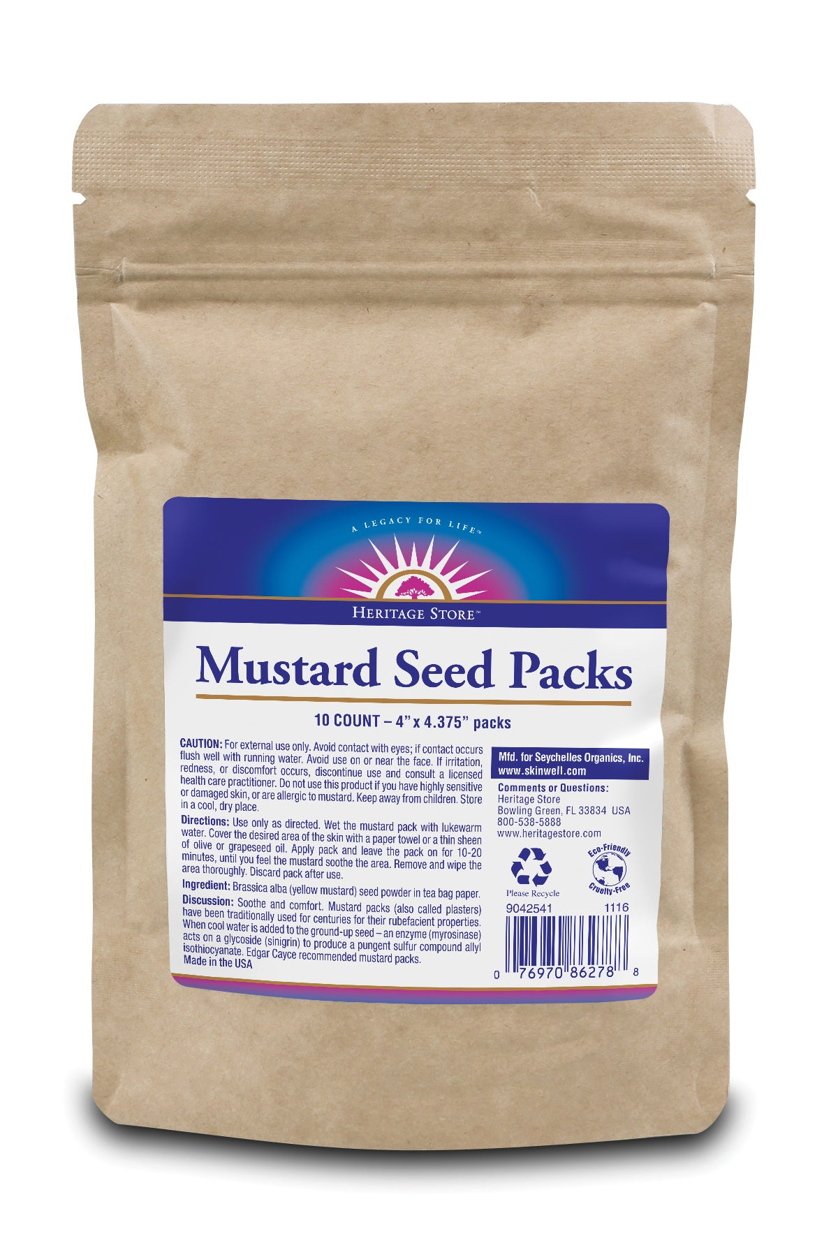 Mustard Seed Packs - Fragrance Free