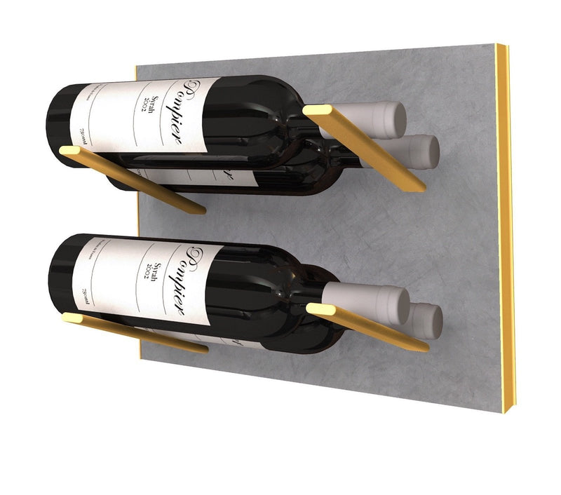 STACT Premier L-type weinregal - Beton & Gold