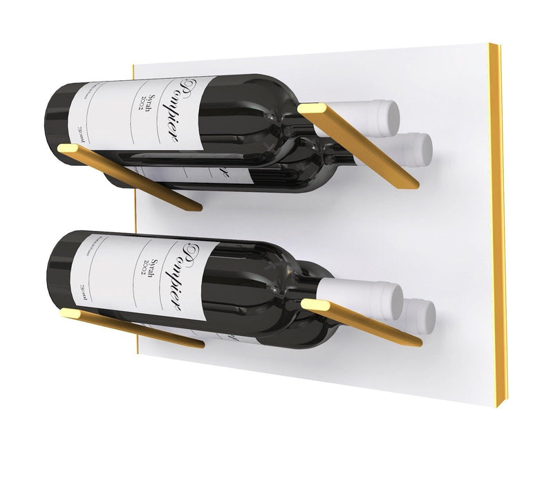 STACT Premier L-type weinregal - weiß & Gold