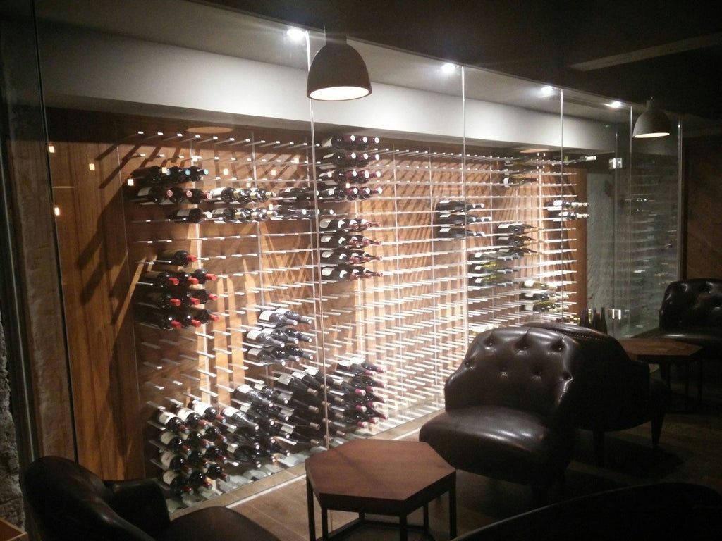 moderne restaurant og vinsmagnings bar design