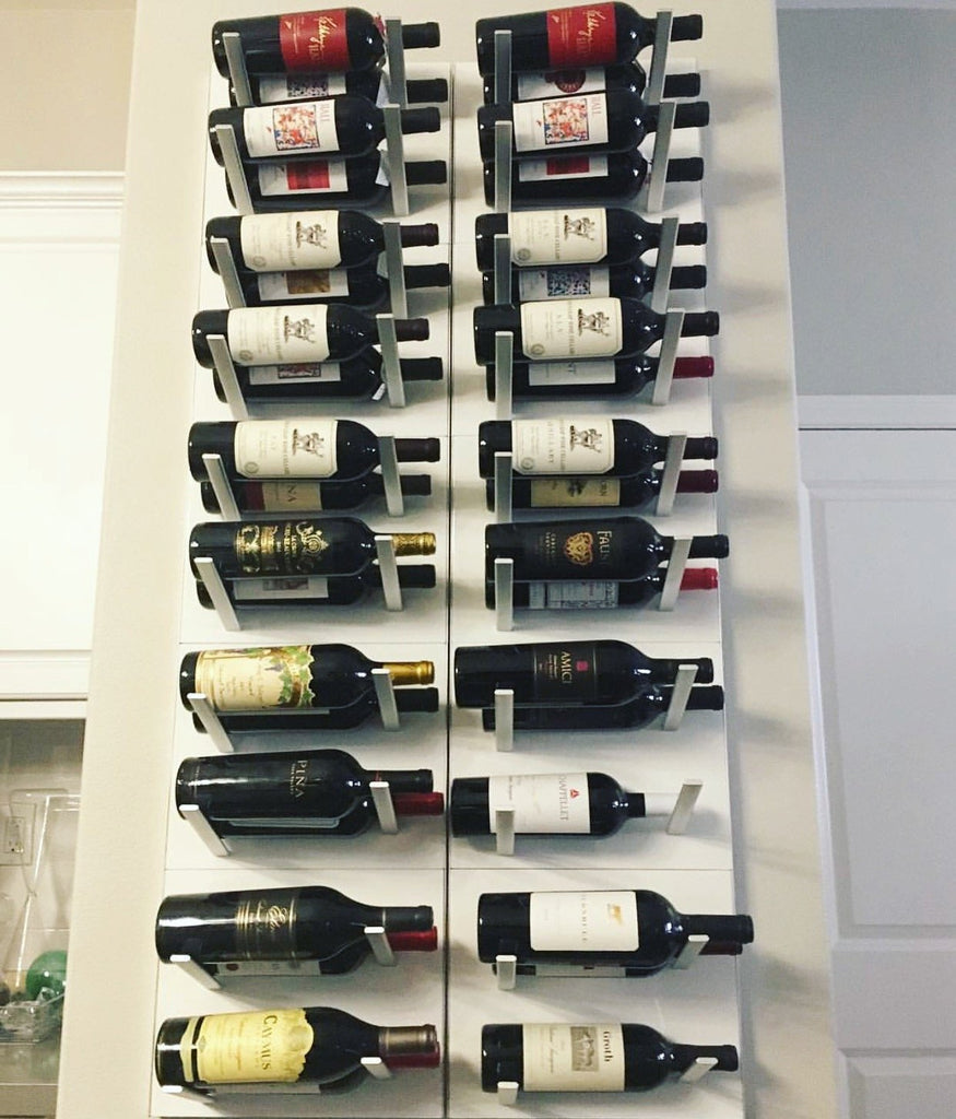 label-out modern wine racks