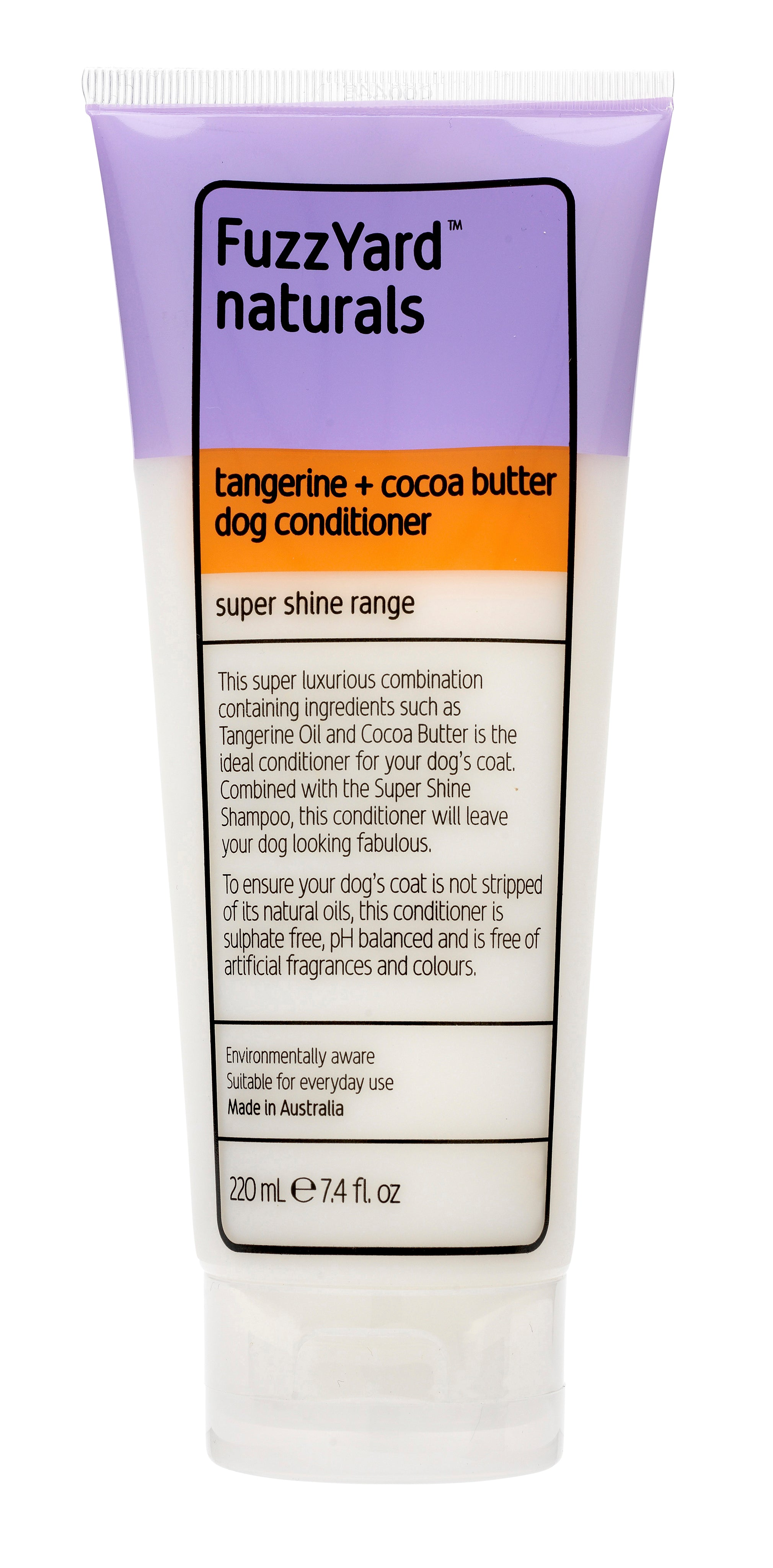 Super Shine Dog Conditioner Tangerine + Cocoa Butter 220ml