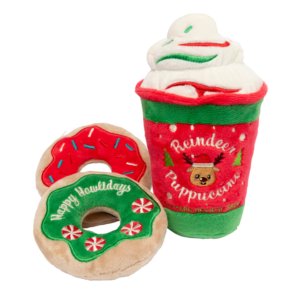 Christmas Reindeer Puppuccino & Donuts - 3 piece set