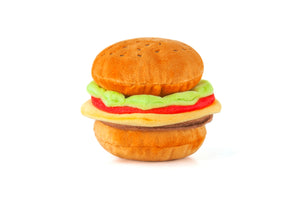 Burger Plush Dog Toy