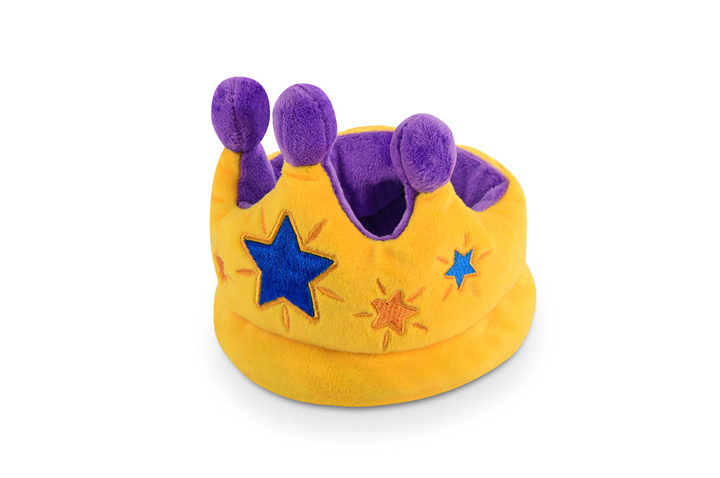Party Time Pup Crown Plush Dog Toy