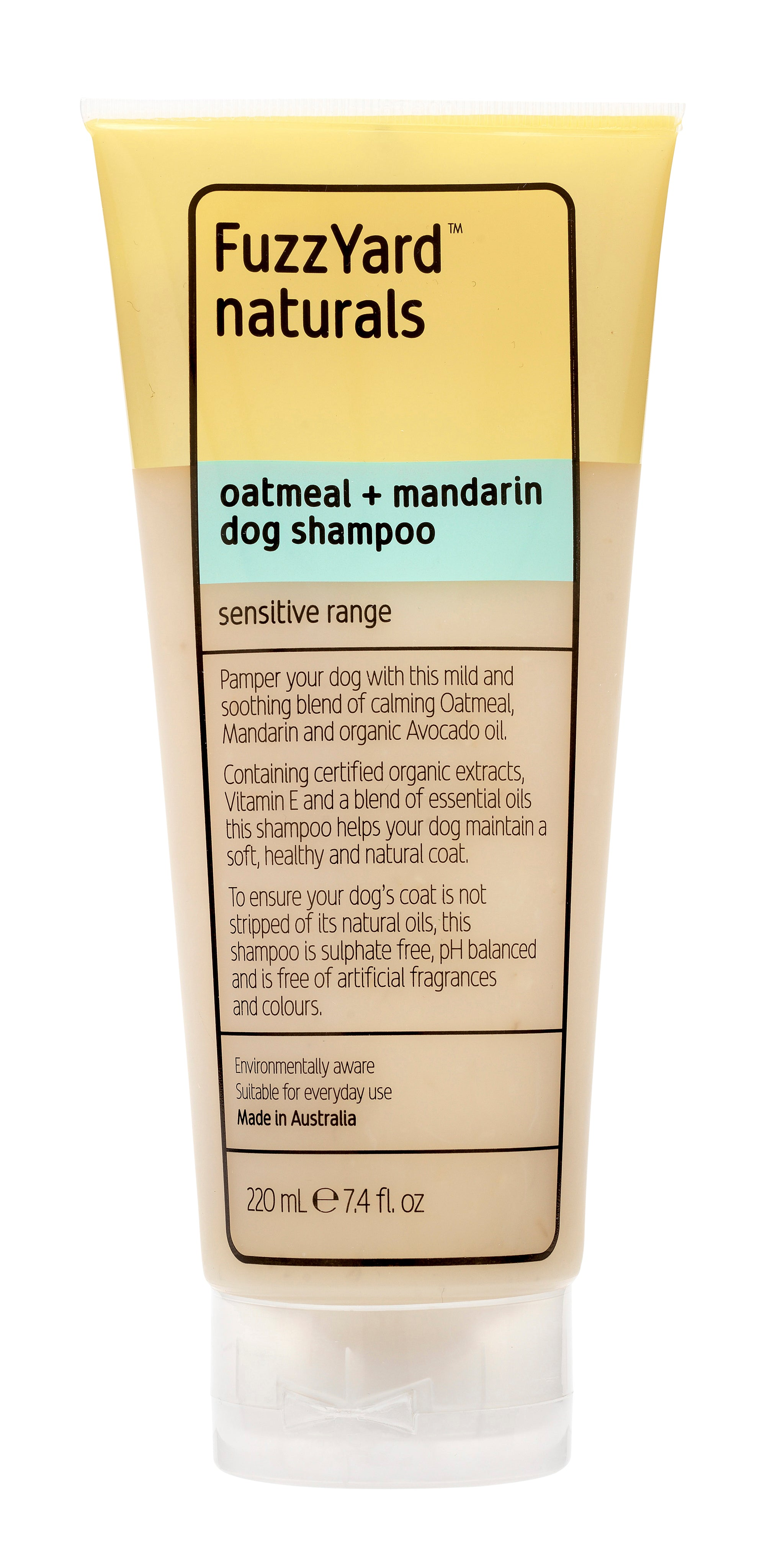 Sensitive Dog Shampoo Oatmeal + Mandarin 220 ml