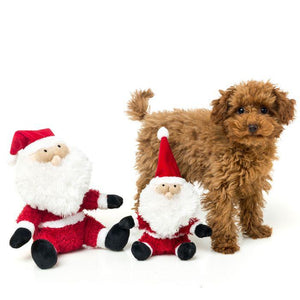 Christmas Fat Santa Dog Toy