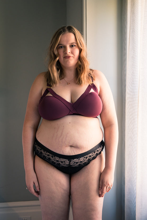 Warrior Mama Maternity Bra - Burgundy