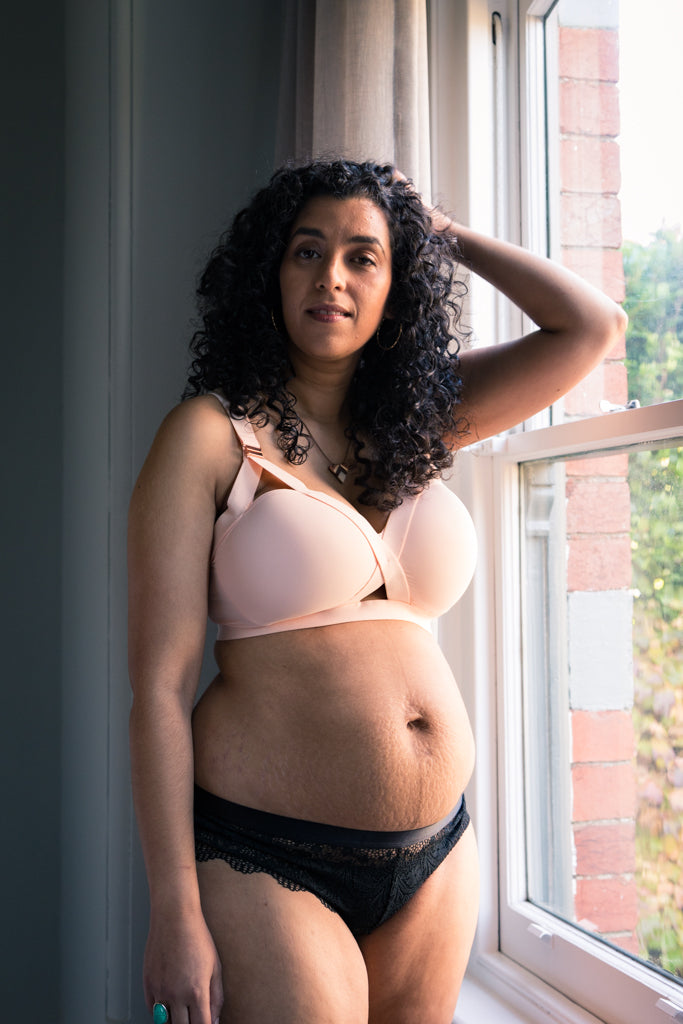 Warrior Mama Maternity Bra - Blush
