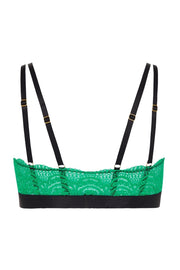 So Down Bralette - Emerald