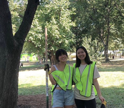 clean up parks with friends