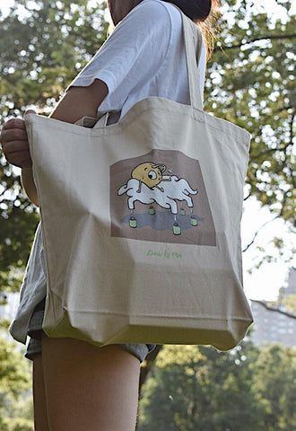 Sunny Side Eco Tote Bag | Organic Cotton