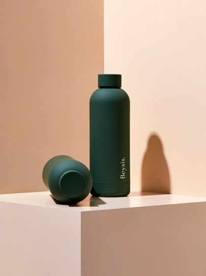Stainless Steel Water Bottle - Olive Green - Line By Moí