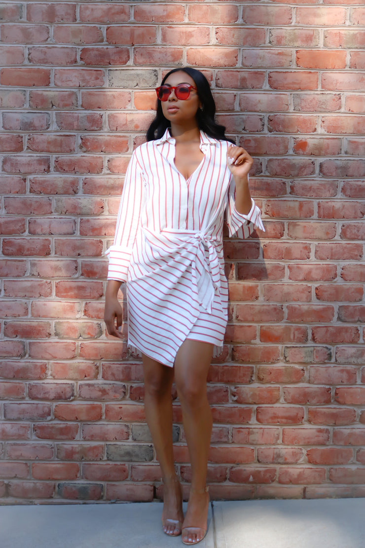 THE SAHARA WRAP TIE DRESS