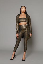 THE NAOMI GOLD THREE-PIECE SUIT