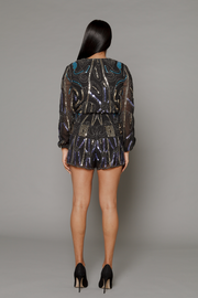 THE STACEY SEQUIN BEADED ROMPER