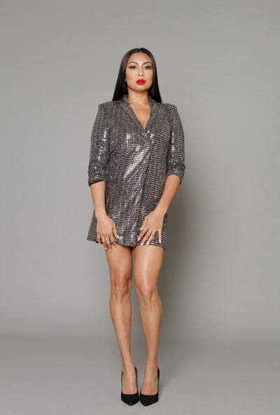 THE SERENA SEQUIN BLAZER DRESS