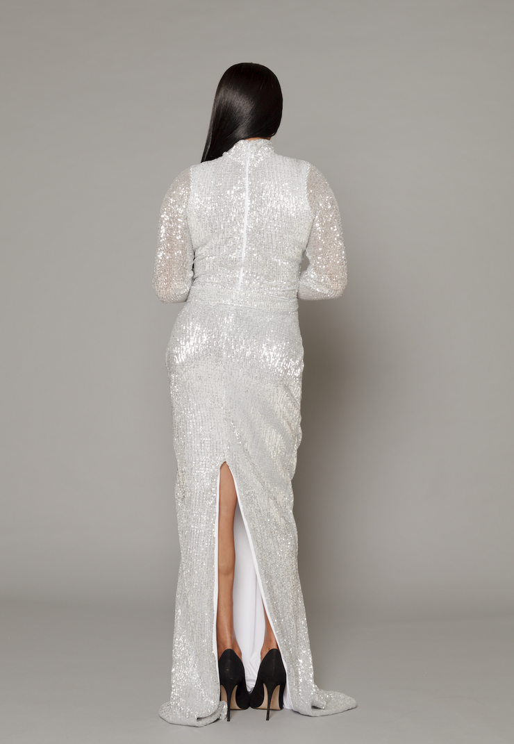 THE DONNA LUXE SEQUIN GOWN