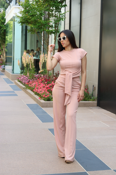 THE BLUSH PINK PANTS SET