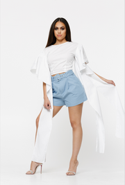 THE ZARA COUTURE WHITE TOP