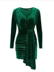 THE EMERALD VELVET DRESS