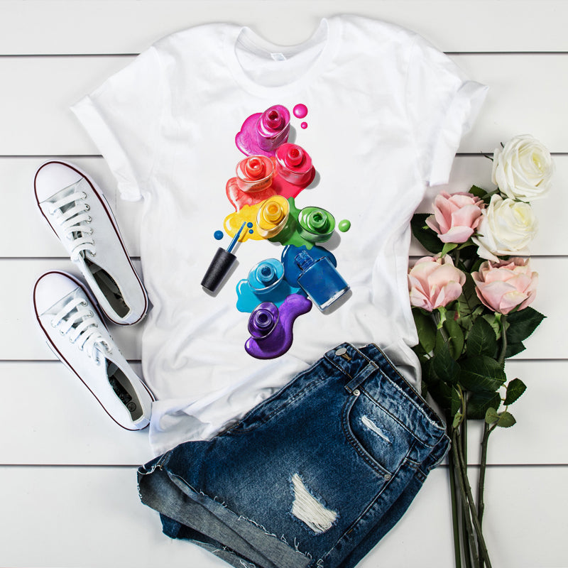 Color Painting Fashion T-Shirt