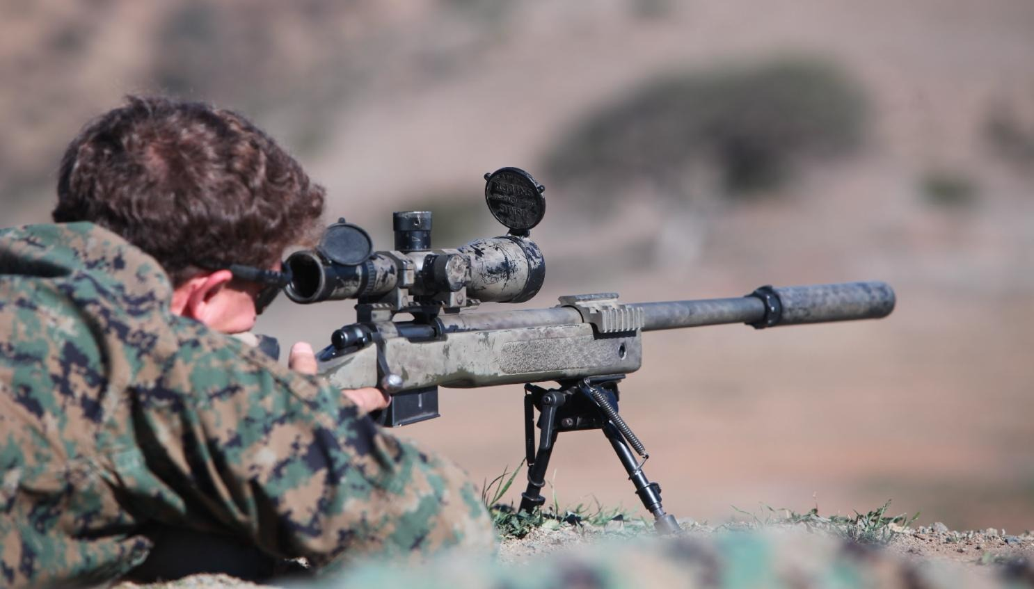 shooting with a rifle scope