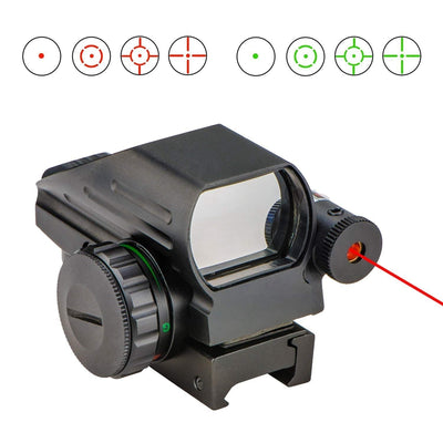CVLIFE 1x22x33 Reflex Sight Red and Green 4 Reticle Dot Sight with 2mW Gun Sight Laser