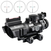 tacticle rifle scope re, green,blue