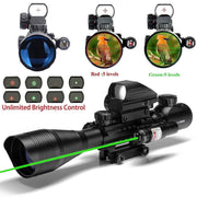 rifle scope green leaser sight