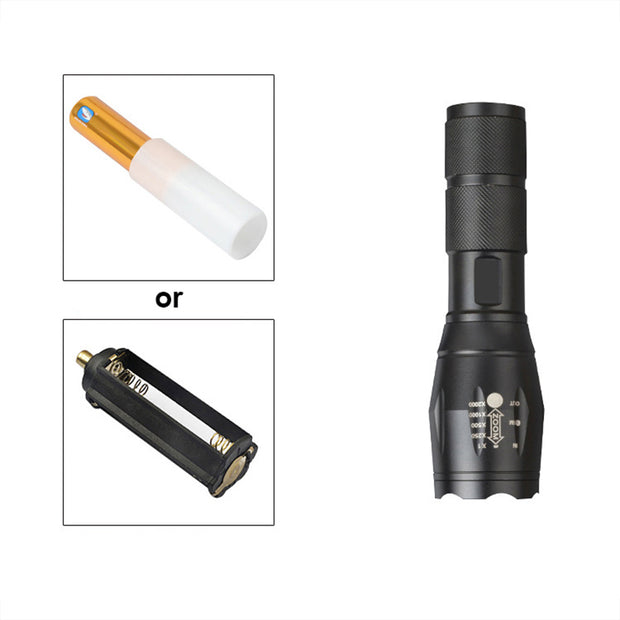 torch with adjustablemini black
