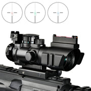 reticle scope with fiber optics