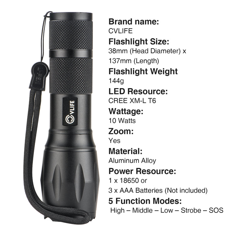 cvlife led flashlight torch