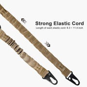 CVLIFE 2 Point Rifle Sling with Metal Hook Adjustable Traditional Gun Sling Khaki