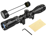 CVLIFE Tactical 3-9x40AO Optics R4 Reticle Crosshair Air Sniper Riflescope with 20mm Free Mounts