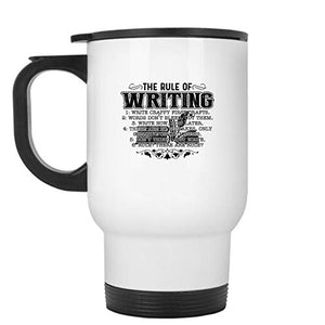 Rule Of Writing Steel Mug (White Mug)