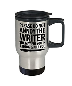 Writer Travel Mugs Birthday Gift for Friends or Coworkers