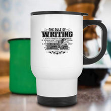 Load image into Gallery viewer, Rule Of Writing Steel Mug (White Mug)