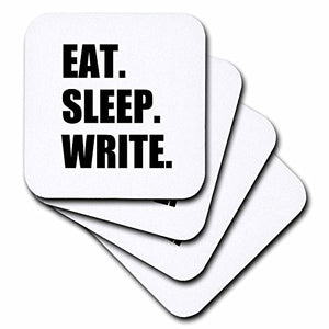 Eat Sleep Write - Set of 4