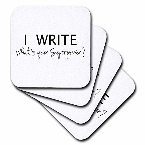 Writer's Ceramic Tile Coasters