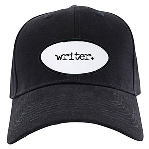 Writer. Black Cap - Baseball Hat, Novelty Black Cap
