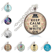 Load image into Gallery viewer, Writer's Pendant Necklace