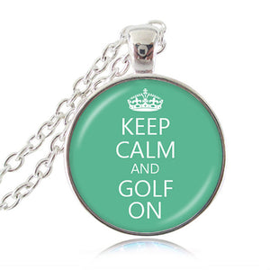 """Keep Calm and Write On"" Pendant, Writer's Necklace"