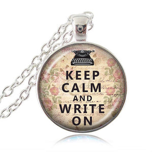 Writer's Pendant Necklace